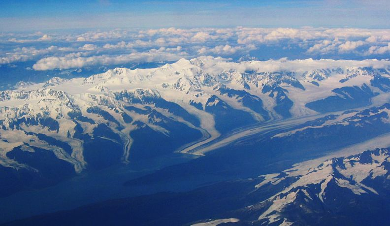 The Alaska Range from above